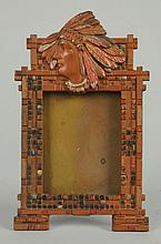 Cast Iron Indian Motif Frame.