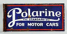 Polarine the Standard Oil for Motor Cars Sign.