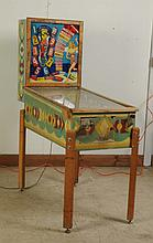 1948 Sally Chicago Coin Pinball Machine.