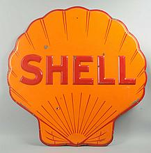 Shell Shell Shaped Sign.