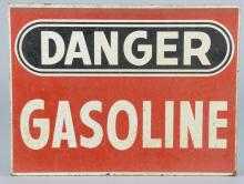 Gasoline Safety Masonite Sign