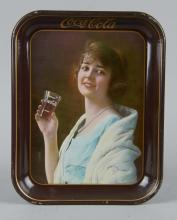 Coca Cola Flapper Girl Tin Serving Tray