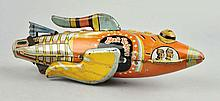 Marx Tin Litho Wind-Up Buck Rogers Space Ship.