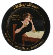 Valley Brew Gold Medal Beverages Charger Sign