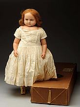 English Poured Wax Child Doll.