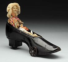 """Cast Iron Ives Blakeslee """"Old Woman in the Shoe"""""""