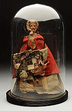 English Wax Pedlar Doll.