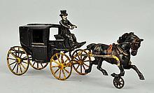 Cast Iron Horse Drawn Cabriolet.