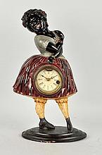 Cast Iron Topsy Clock.