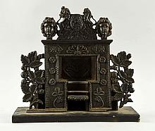 Late 19th Century Cast Iron Childs Fireplace.