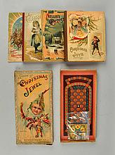 Lot Of 5: Early McLoughlin Bros Books & Games.
