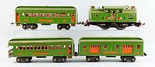 Lot Of 4: Lionel 318E Locomotive & Passenger Cars.
