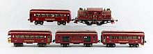 Lot Of 5: Lionel No. 380 Locomotive & Cars.