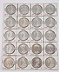 Lot of 20: Silver Dollars.