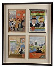 Dick Tracy Puzzles And Puzzle Box In Frame