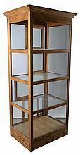 Sun Waddell Oak And Glass Showcase Display Cabinet