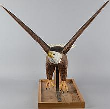 Jerry Holten Folk Art Wood Bald Eagle