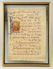 Hand Printed Illuminated Manuscript Page.