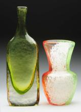 Lot of 2: Art Glass Pieces.