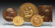 Lot Of 5: The Society Of Medallists Medals.