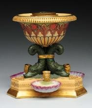 Early Ceramic Inkwell