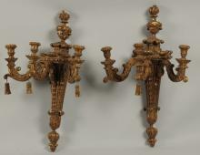 Lot of 2: Rococo Style Wall Sconces.