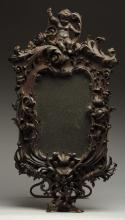 Victorian Carved Wood Mirror.