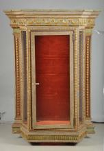 18th C. Italian Display Cabinet With Later Base.