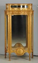French Bombay Glass Gilt Vitrine.