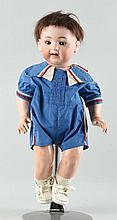 Antique Japanese Bisque Head Character Baby.