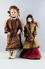 Lot Of 2: Bisque Head Dolls.
