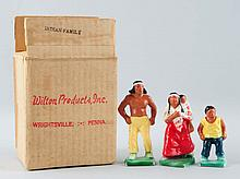 Lot of 3: Wilton American Indian Family.