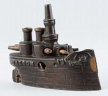 Oregon Battle Ship Cast Iron Still Bank.
