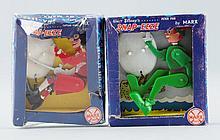 Lot Of 2: Snap-Eeze Peter Pan & Capitan Hook Toys.