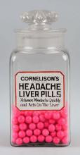 Cornelison's Pills Drug Store Jar.