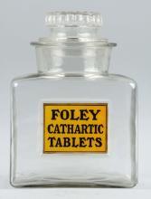 Foley Cathartic Tablets Drug Store Jar.