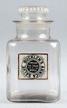 Bucklen's Arnica Salve Drug Store Jar.