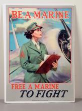 Be A Marine Cardboard Sign.