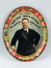 Theodore Roosevelt Advertising Serving Tray.