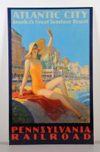 Pennsylvania Railroad Atlantic City Poster.