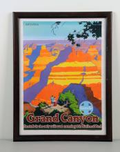Grand Canyon Santa Fe Railway Poster.
