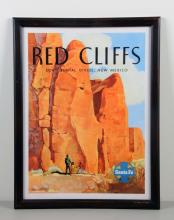 Red Cliffs Continental Divide Santa Fe Poster.