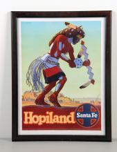 Framed Hopiland Travel Poster By Santa Fe Railways