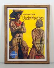 Santa Fe Railway Poster South Western Dude Ranches