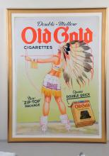 Large Petty Signed Old Gold Poster.