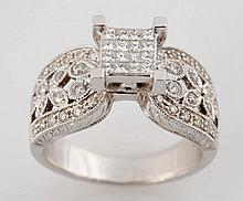 Diamond Cluster Ring.
