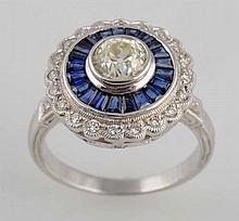 Sapphire & Diamond Ring.