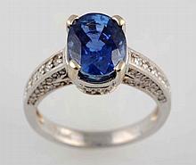 4 ct. Sapphire & Diamond Ring.