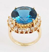 Topaz & 1.60 ct. Diamond Ring.