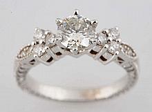 0.82 ct. Diamond Solitaire Ring.
